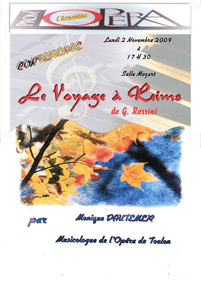 Prom'Op�ra Affiches Le voyage � Reims 2009