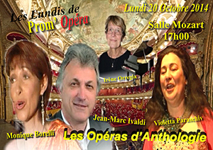 Prom'Op�ra Affiches Les operas d'anthologie 20-10-2014