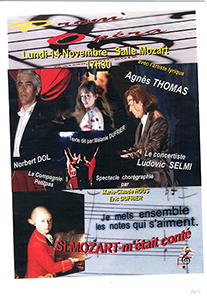 Prom'Opera Affiches Si Mozart m'�tait cont� 2011